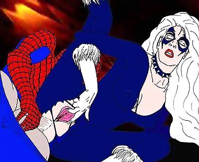 Spiderman porn cartoons -..