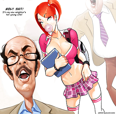 Adult comic professor pinkus..
