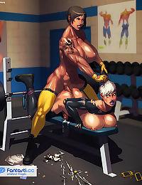 Dickgirls workout erections - part 3
