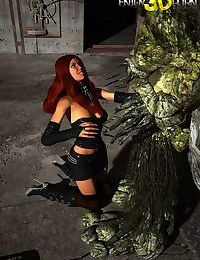 Beautiful redhead babe with mysterious creature - part 8