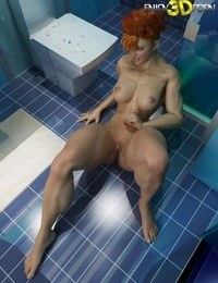 Nude redheaded bodybuilder babe with butch haircut - part 488